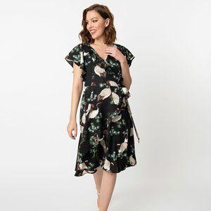 NWT Unique Vintage Luella Crane Wrap Dress